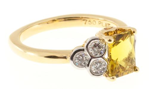 RKG 1.75 Carat Tourmaline Diamond Rose Gold Ring