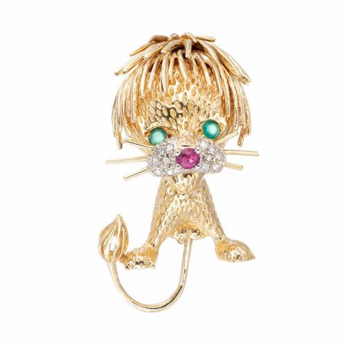Lion Cub Ruby Emerald Diamond