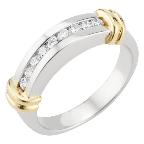 .27 Carat Channel Diamond White Gold Dome Band Ring