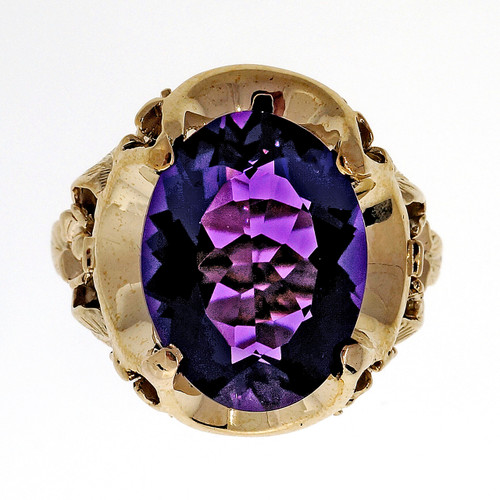 .9 Carat Amethyst Rose Gold Ring