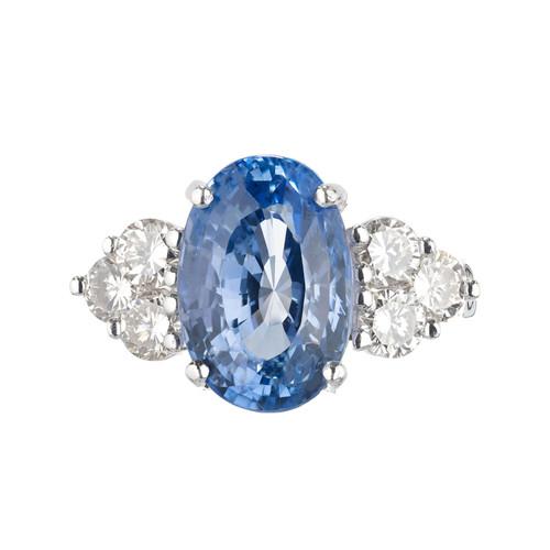 Peter Suchy GIA 8.95 Carat Blue Sapphire Diamond Platinum Engagement Ring
