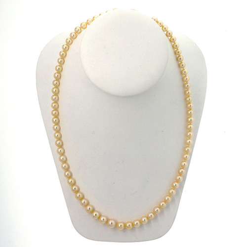 Japanese Graduated Akoya Natural Color Pearl Necklace