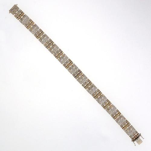 Sonia B 6.06 Carat Diamond White Yellow Gold Bracelet