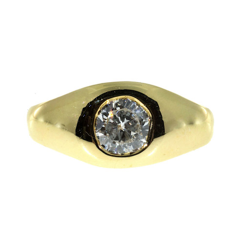 Vintage Adorable Small Size 3 14k Gold Brilliant Cut Diamond .46CT Ring