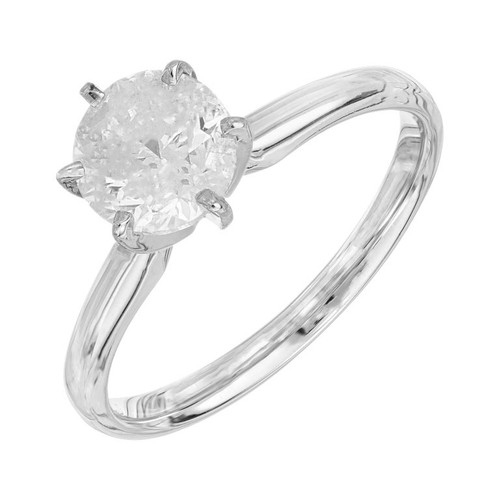 EGL Certified 1.51 Carat Diamond White Gold Solitaire Engagement Ring