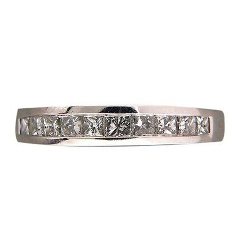 Vintage Raised Top 10 Princess Cut Diamond Channel Band .75ct Ring Size 7