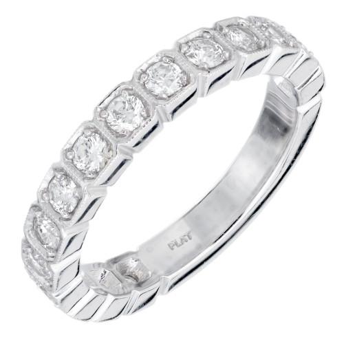 Peter Suchy .75 Carat 15 Diamond Platinum Wedding Band Ring