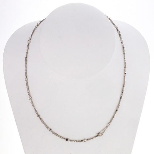 Peter Suchy 1.80 Carat Diamond White Gold Necklace