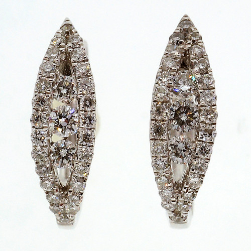 Odelia .36 Carat Diamond Huggie Style Hoop Earrings