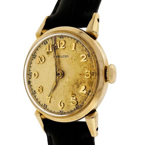 1950 Hamilton 748 Gold Filled 18 Jewel Strap Wrist Watch