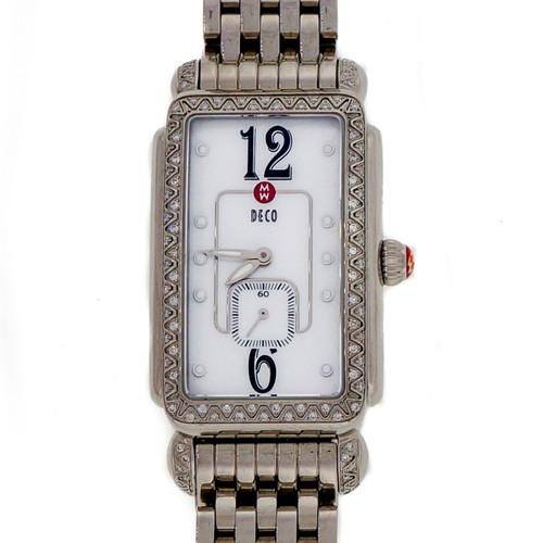 Large Size Michelle Deco Diamond Steel MW06E01 Wrist Watch