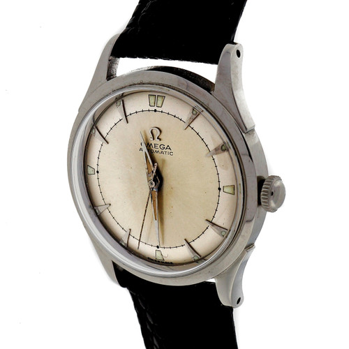 Omega 1960 Bumper Automatic Steel 351 Strap Watch