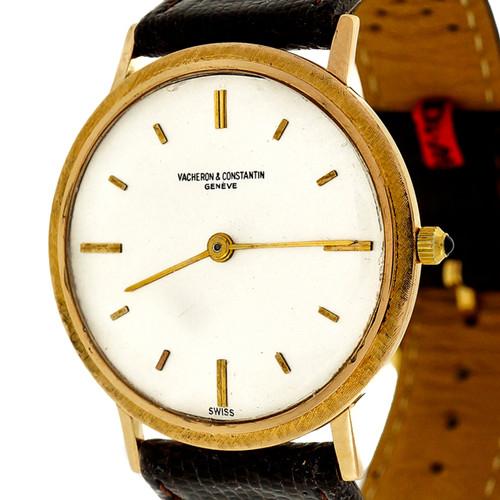 1960 Vacheron Constantin 18k Yellow Gold Strap Watch Ultra Thin