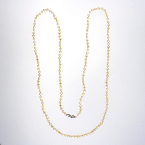 1950 40 Inch Japanese Akoya Pearl Necklace