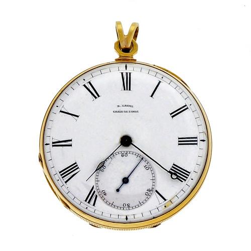 B. Laval Chaux De Fonds Pocket Watch Key Wind Key Set Pocket Watch 14k
