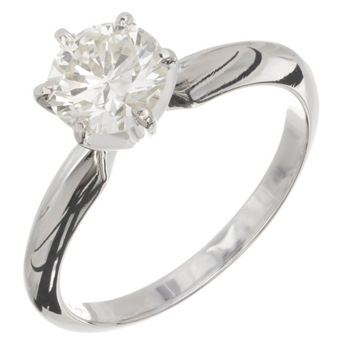 1.00 Carat Diamond White Gold Solitaire Engagement Ring