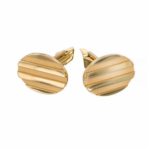Tiffany & Co. Solid 18 Karat Yellow Gold Oval Cufflinks