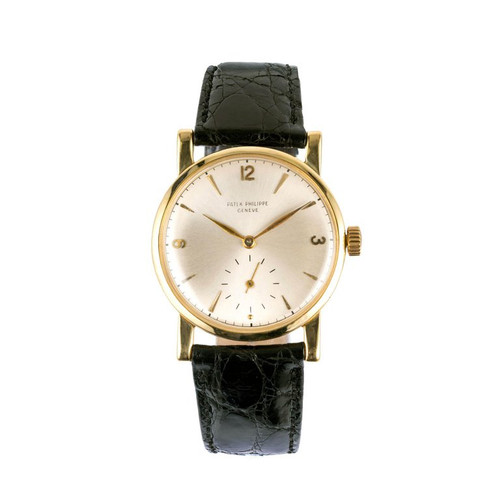 Patek Philippe 1578 18k Fancy Lug Yellow Gold Strap Watch