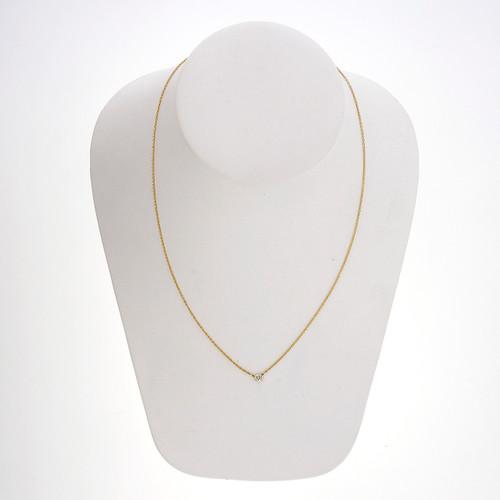 Tiffany & Co Peretti .14 Carat Diamond Yellow Gold  By The Yard Necklace