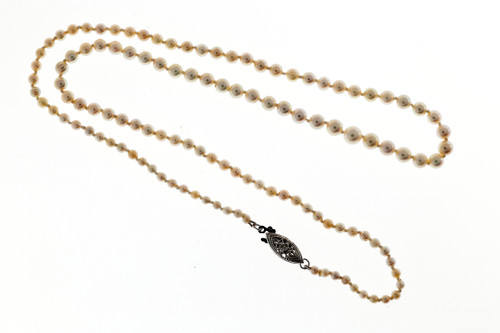 GIA Certified 20 Inch 2.55 To 5.44mm Japanese Graduated Cultured Pearl Necklace