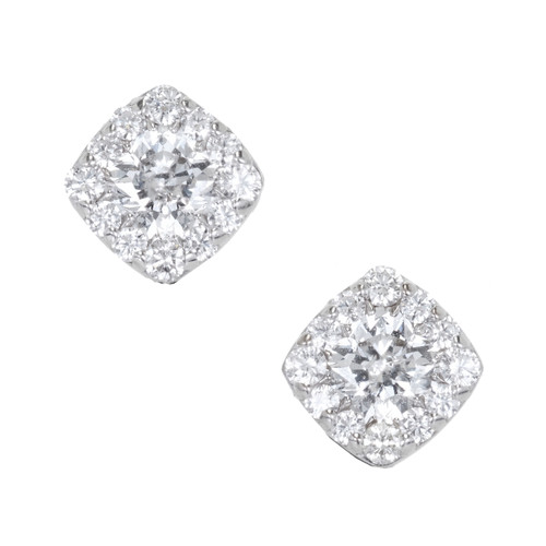 Hearts On Fire 1.10ct Dream Fulfillment Diamond Halo Cushion Earrings