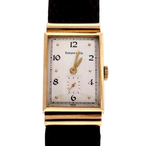 Vintage 1940 Tiffany Hooded Lug 14k Yellow Gold Longines Watch