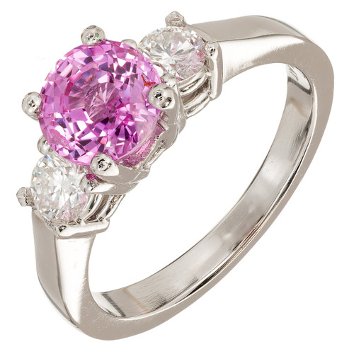 1.79 Carat Sapphire Diamond Platinum