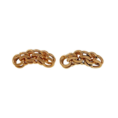 Vintage Tiffany & Co Charm Bracelet Double Spiral Link Earrings 14k Yellow Gold