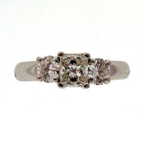 .48 Carat Diamond Platinum Three Stone Engagement Ring