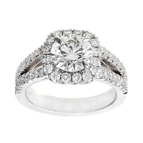 Peter Suchy 1.56 Carat Diamond Platinum Engagement Ring