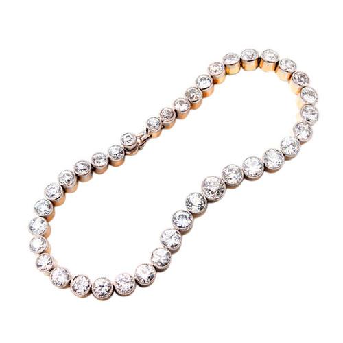 Victorian 15.00 Carat Diamond Platinum Bracelet