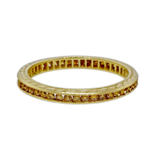 Peter Suchy Natural Fancy Yellow Diamond 18k Yellow Gold Wedding Band