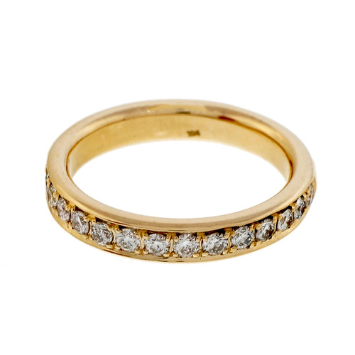 Peter Suchy Diamond Bead Set Pave 14k Yellow Gold Wedding Band Ring
