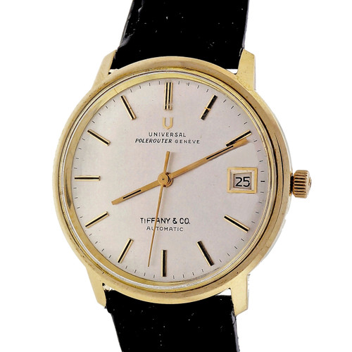 Vintage Polerouter Universal Geneve Micro Rotor Automatic Date Strap Watch