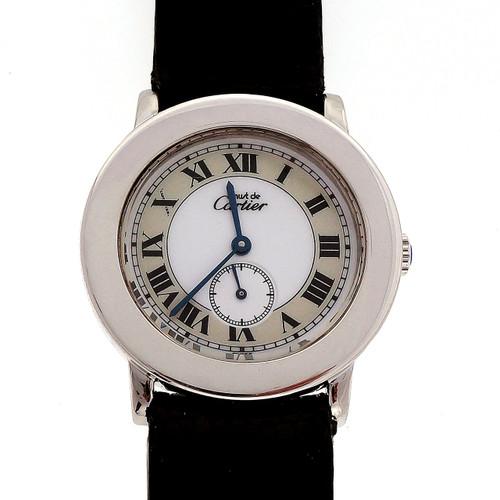 Cartier Rondo Quartz Two Tone Dial Wristwatch