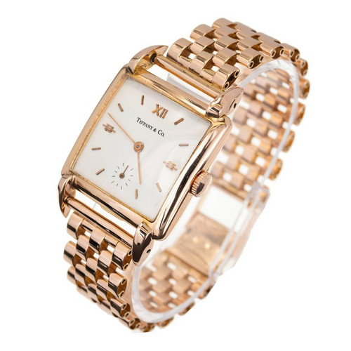 Tiffany & Co. Universal Geneve Rose Gold Wristwatch 1950