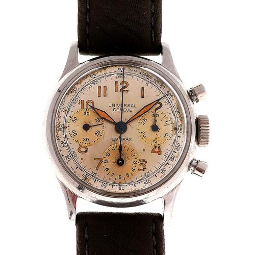 Universal Geneve Steel Compax 1945 Men's Chronograph Wristwatch