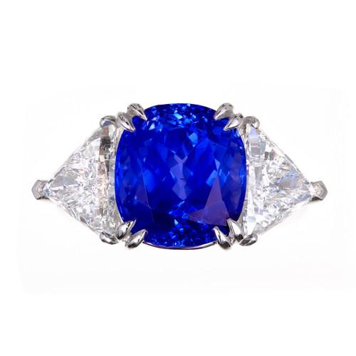 Estate Important Sri Lanka Natural No Heat 9.44ct Sapphire Diamond Ring
