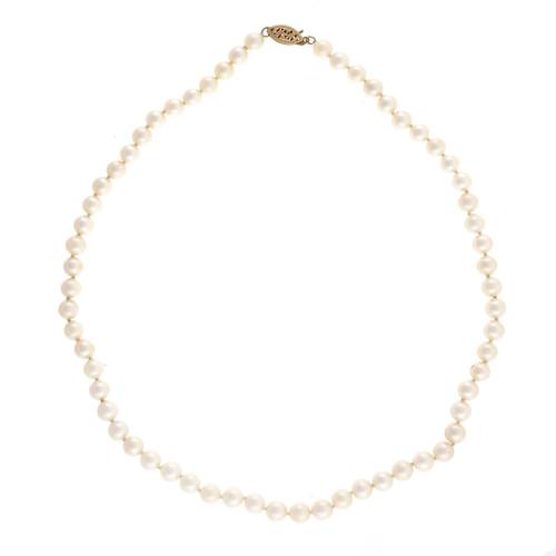 Vintage 1960 5.5 – 6mm Cultured Pearl 16 Inch 14k Necklace