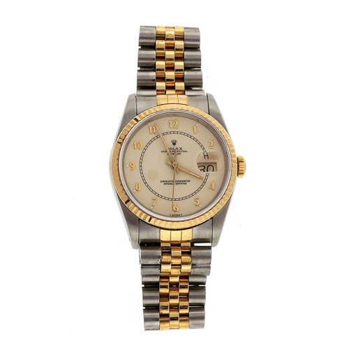 Rolex Yellow Gold Steel Datejust  Men's Wristwatch
