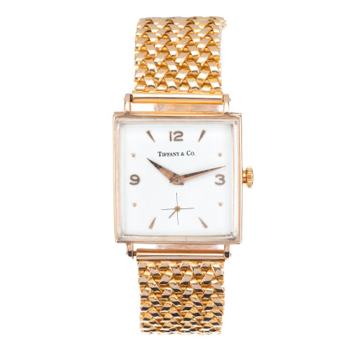 Tiffany & Co. Rose Gold Universal Genève Mid-century Wristwatch
