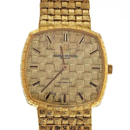 Vacheron Constantin Yellow Gold  Men's Handmade Braided Basket Wristwatch