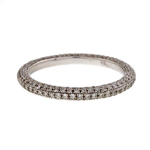 Micro Pave 150 Diamond .75ct Band Platinum Eternity Ring PSD