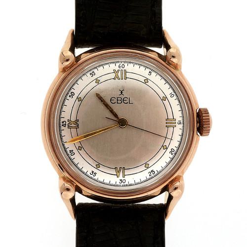 Ebel Rose Gold Mens  Manual Wind Wristwatch