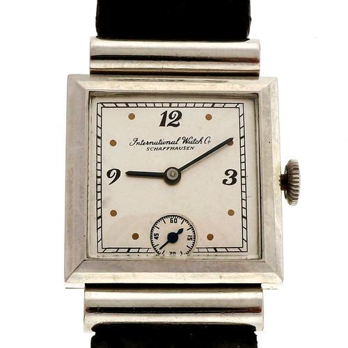 Rare Hooded Lug 1930 IWC International Watch Co Steel Men's Watch