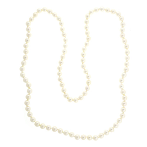 1950 Vintage 8mm To 8.5mm Japanese High Grade Slip On Long Pearl Necklace