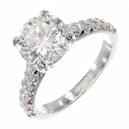 Peter Suchy 2.11ct GIA Platinum Diamond Engagement Ring