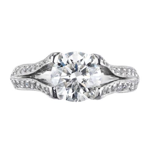 Peter Suchy GIA Certified 1.60 Carat Diamond Platinum Engagement Ring
