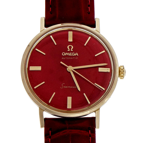 Omega Seamaster Steel Gold Automatic Strap Wrist Watch LL 6066