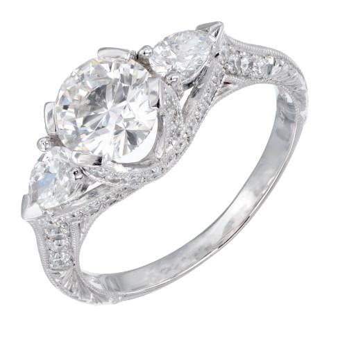 Peter Suchy GIA Certified 1.05 Carat Diamond Engagement Ring
